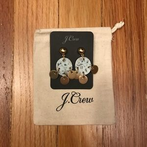J.crew drop stone and disc earrings new